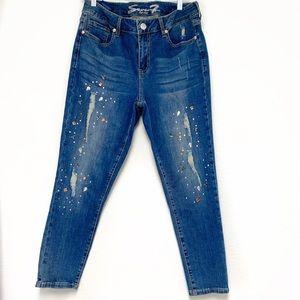 💕Seven7 rhinestone embellished  skinny  jeans